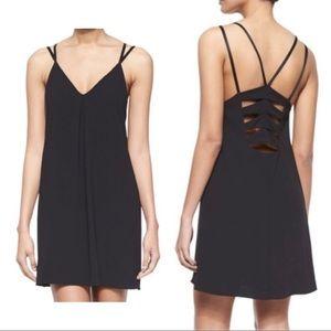 Alice + Olivia Black Slip Dress